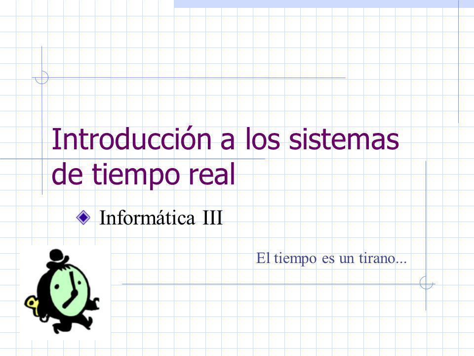 Informática IIIIng. Nora BletPág. 42 Diseño de Sistemas de tiempo real