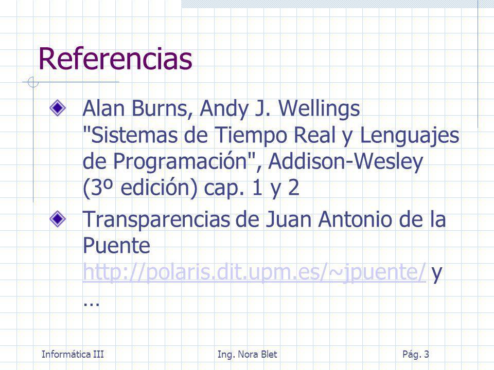 Informática IIIIng.Nora BletPág. 24 Tipos de requisitos temporales ¿Qué pasa sino se cumplen.