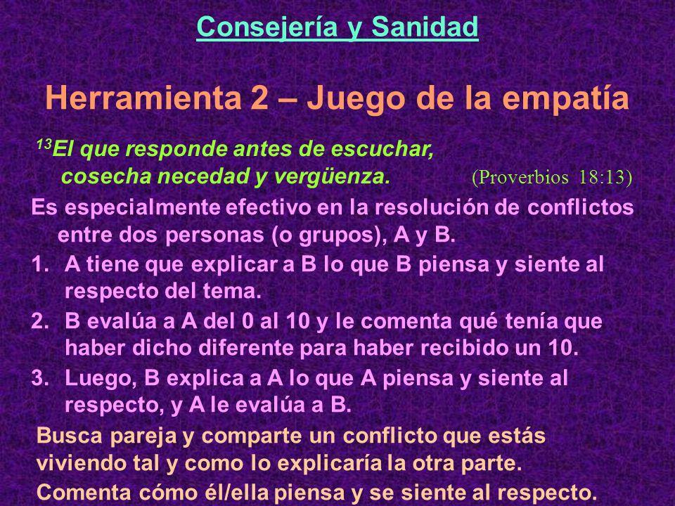 Es especialmente efectivo en la resolución de conflictos entre dos personas (o grupos), A y B.