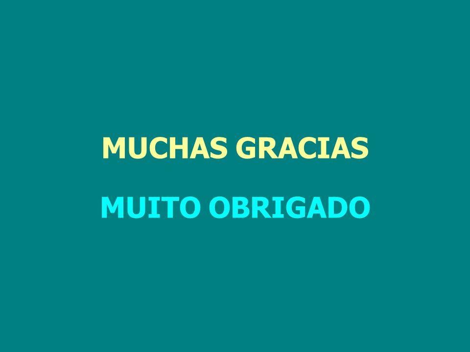 MUCHAS GRACIAS MUITO OBRIGADO