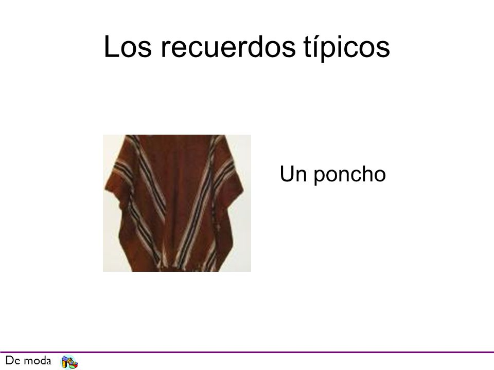 Los recuerdos típicos De moda Un poncho