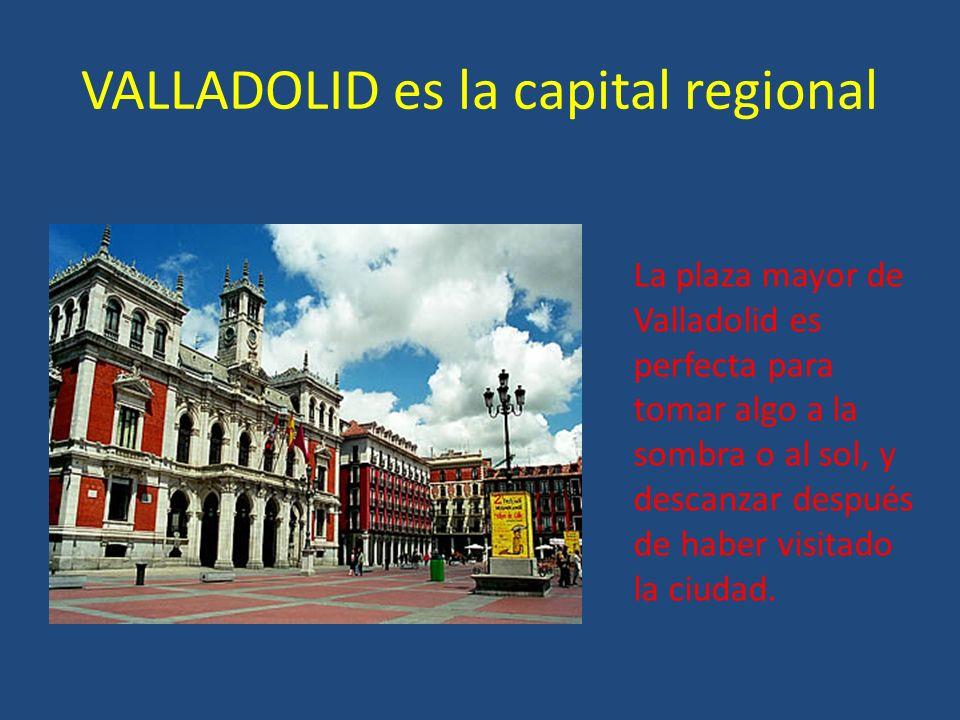 VALLADOLID es la capital regional La plaza mayor de Valladolid es perfecta para tomar algo a la sombra o al sol, y descanzar después de haber visitado la ciudad.