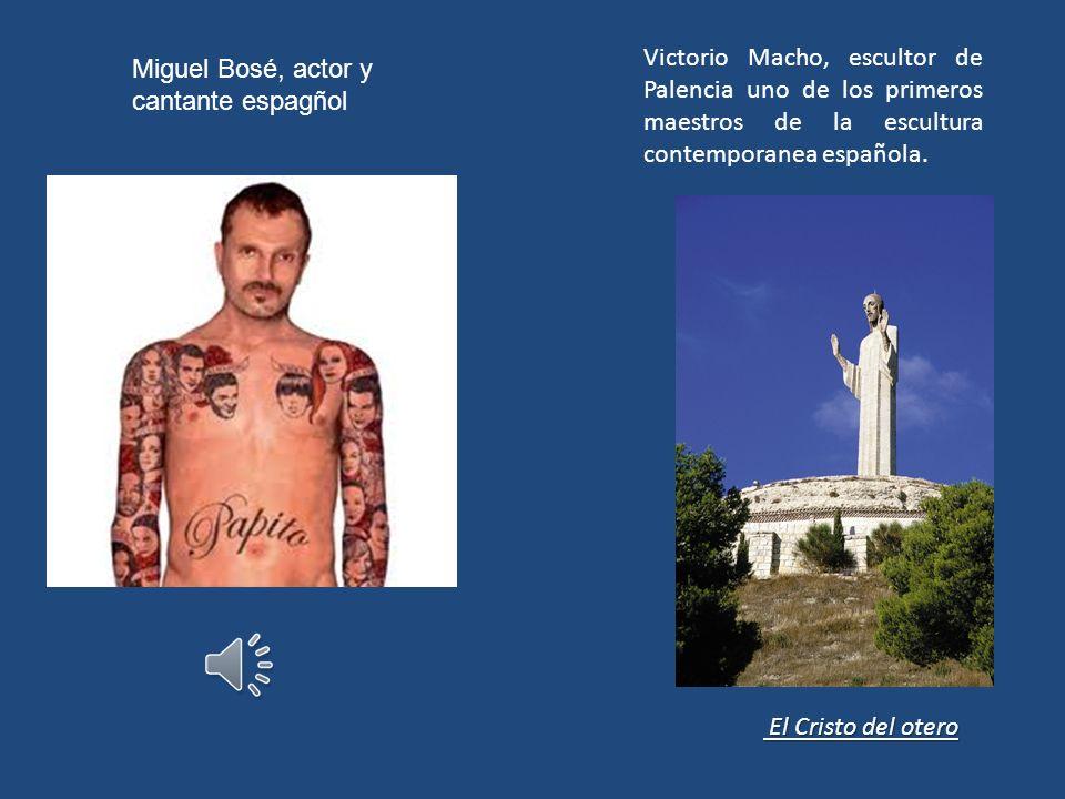 Miguel Bosé, actor y cantante espagñol Victorio Macho, escultor de Palencia uno de los primeros maestros de la escultura contemporanea española.