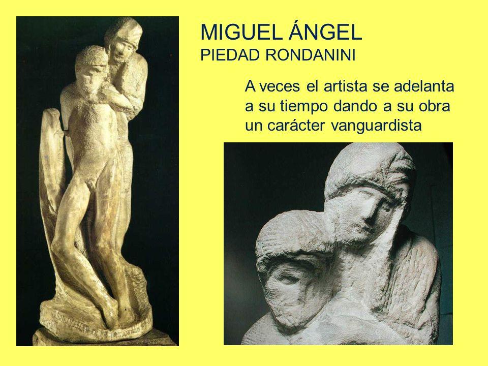 MIGUEL ÁNGEL PIEDAD RONDANINI A veces el artista se adelanta a su tiempo dando a su obra un carácter vanguardista