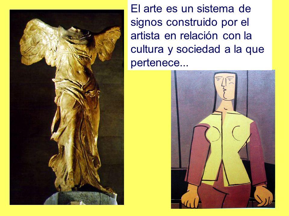 El arte es un sistema de signos construido por el artista en relación con la cultura y sociedad a la que pertenece...