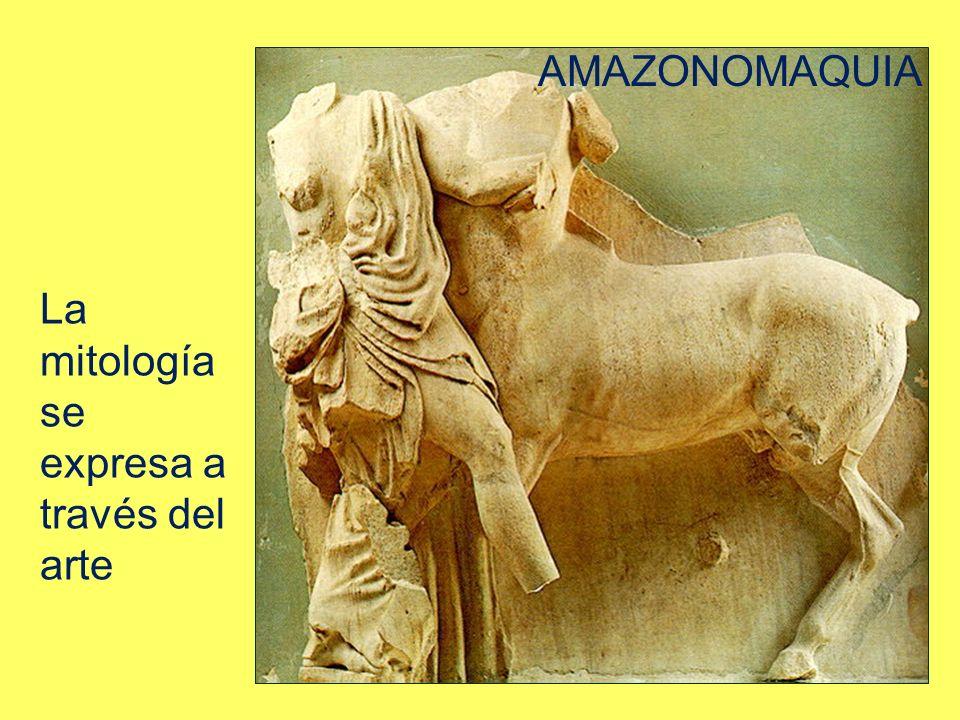 La mitología se expresa a través del arte AMAZONOMAQUIA