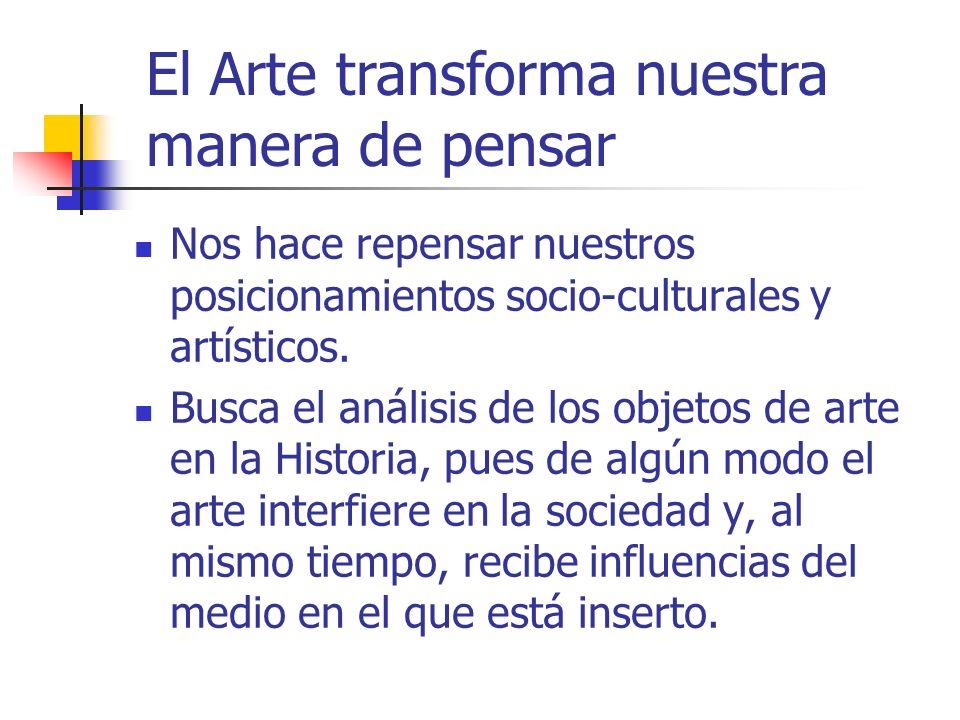 WebSite por Simone R. Martins e Margaret H. Imbroisi WebDesigner por Márcio Lopes El Arte transforma nuestra manera de pensar Nos hace repensar nuestr