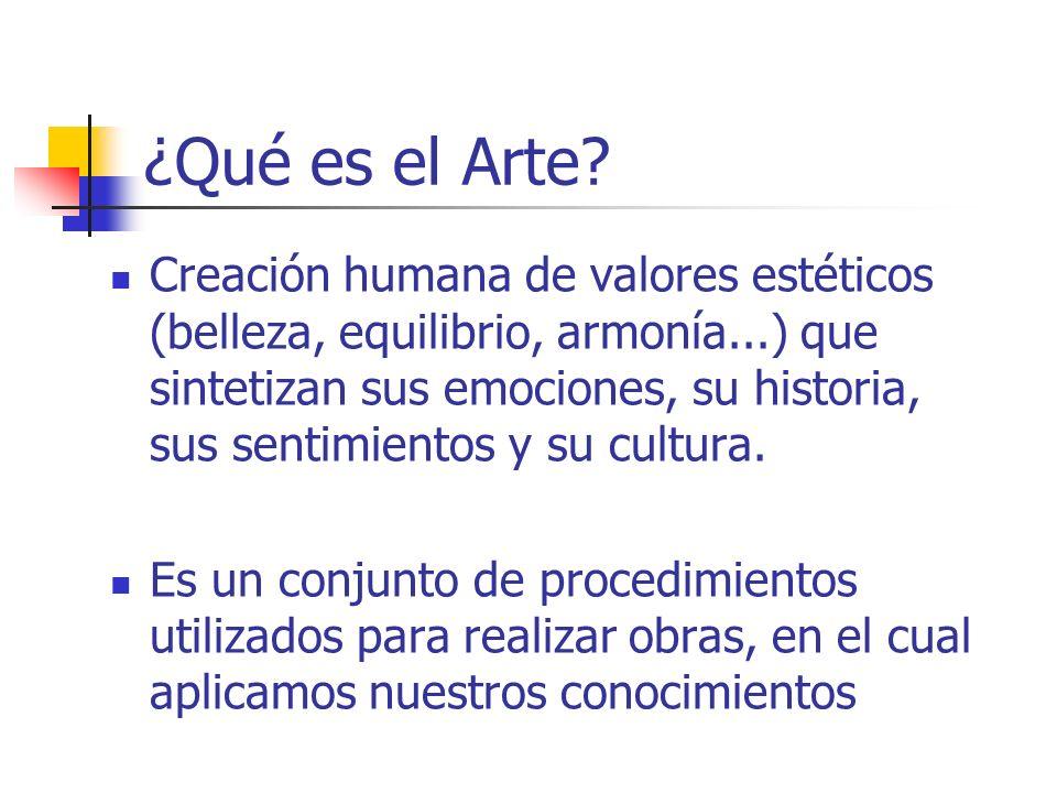 WebSite por Simone R. Martins e Margaret H. Imbroisi WebDesigner por Márcio Lopes ¿Qué es el Arte? Creación humana de valores estéticos (belleza, equi