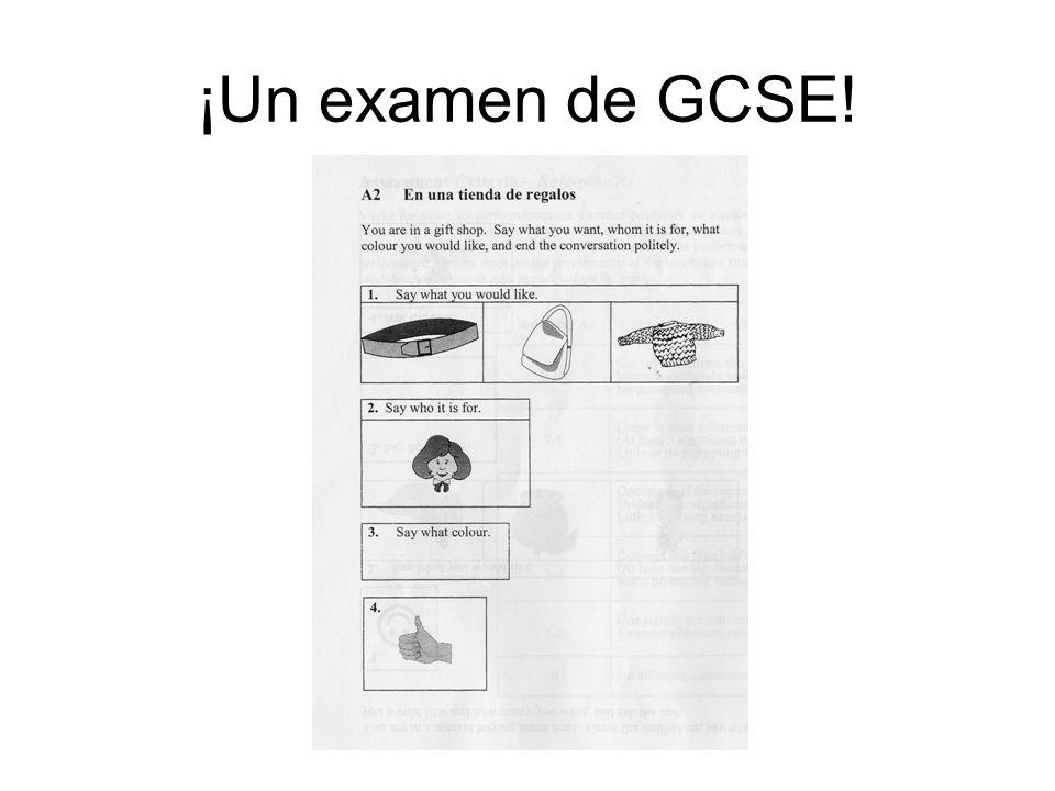 ¡Un examen de GCSE!