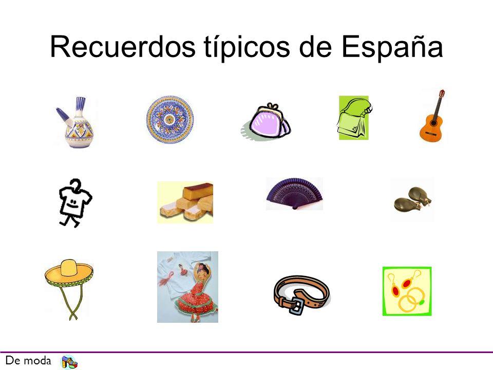 Recuerdos típicos de España De moda