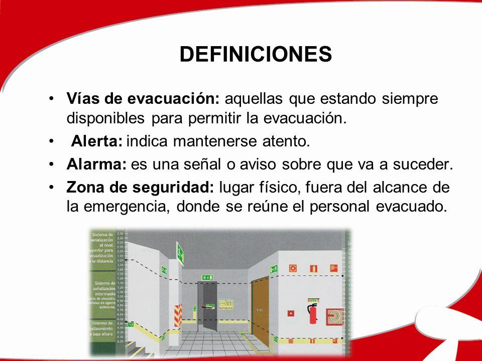 TIPOS DE EVACUACIÓN Evacuación Parcial: se llevara a cabo cuando la zona afectada solo sea un área o sector independiente.