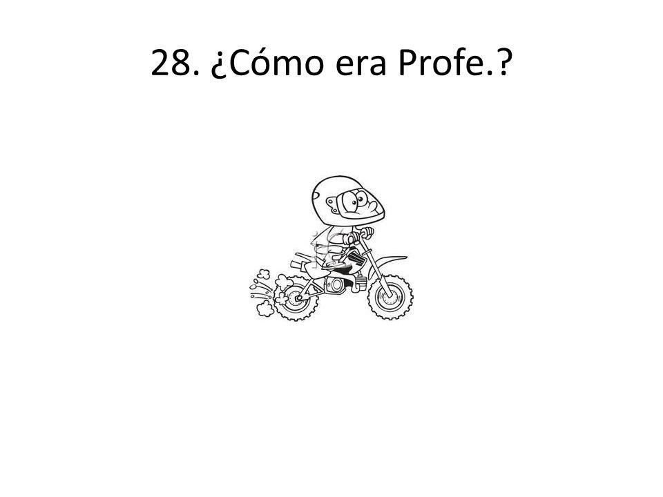 28. ¿Cómo era Profe.?