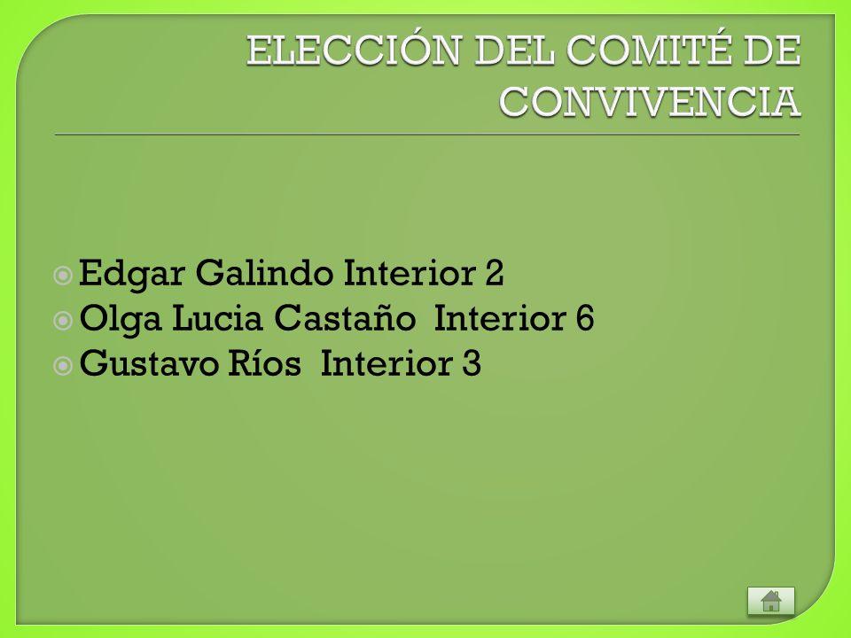 Edgar Galindo Interior 2 Olga Lucia Castaño Interior 6 Gustavo Ríos Interior 3