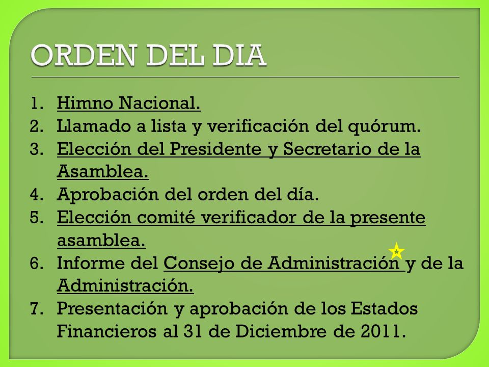 8.Informe del Revisor Fiscal 9.