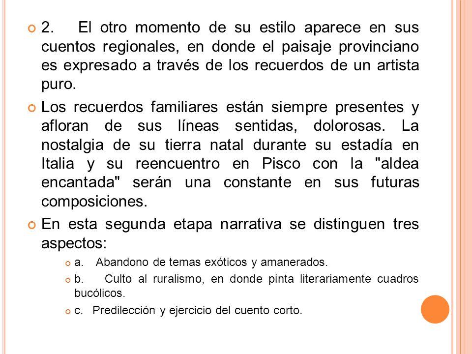 CARACTERÍSTICAS DE SU OBRA 1.