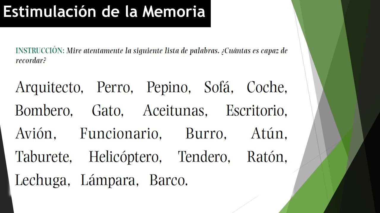 Estimulación de la Memoria
