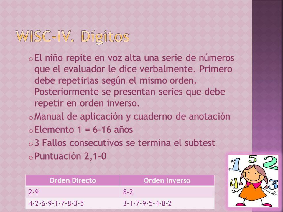 Orden DirectoOrden Inverso 2-98-2 4-2-6-9-1-7-8-3-53-1-7-9-5-4-8-2