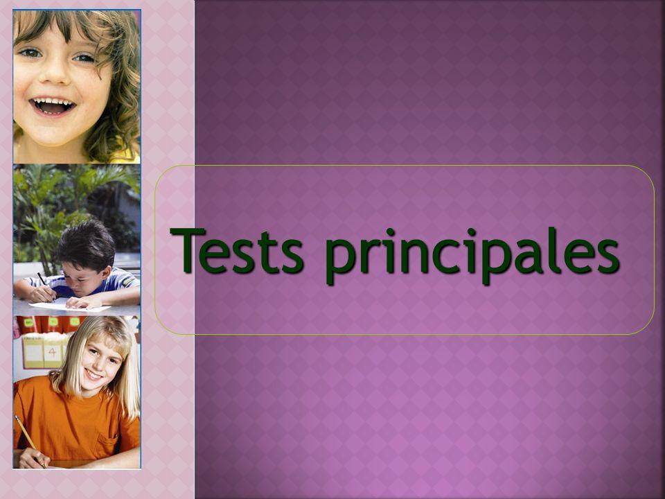 Tests principales