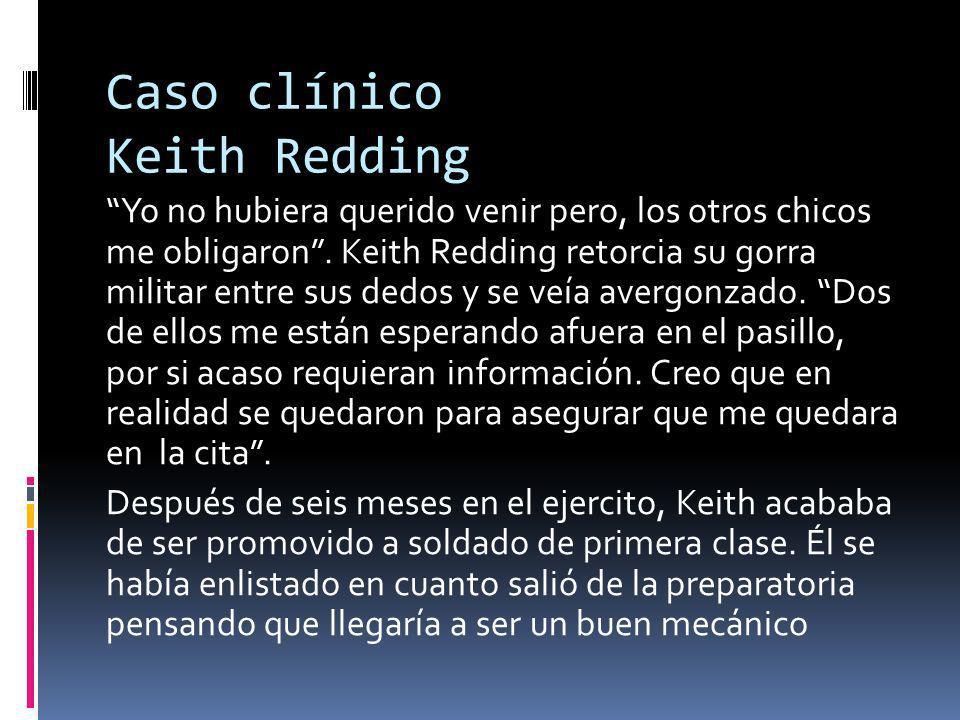 Caso clínico Keith Redding Yo no hubiera querido venir pero, los otros chicos me obligaron.
