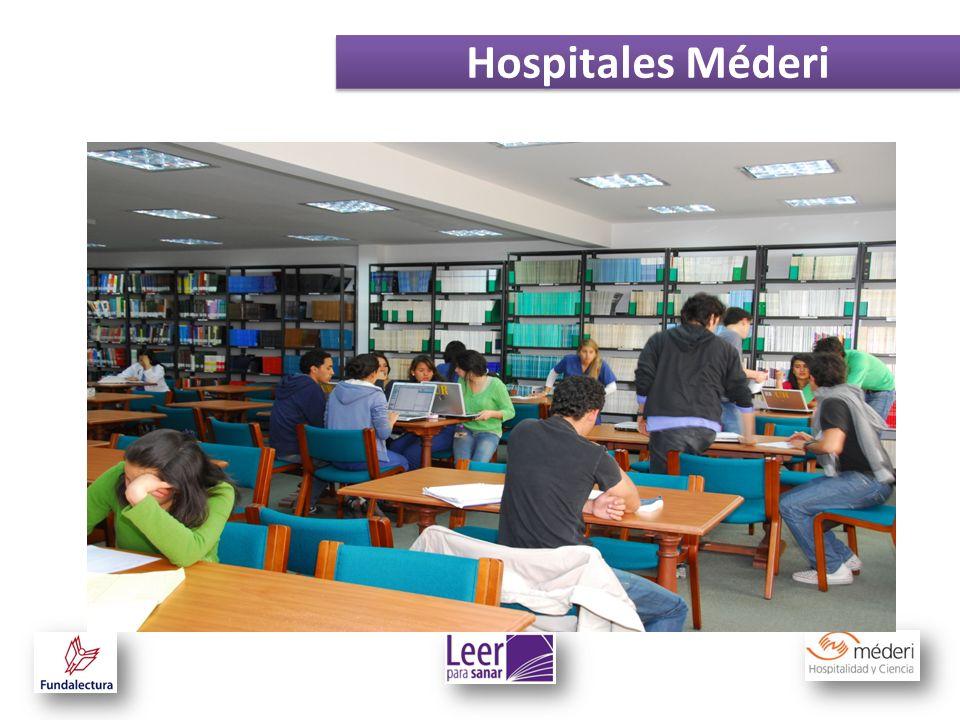 Leer para sanar está dirigido a los pacientes que se encuentran en los pisos de hospitalización de los hospitales Méderi.
