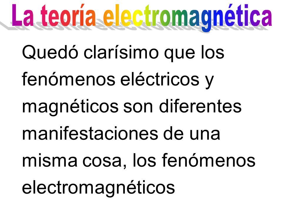 En 1864, James Clerk Maxwell unificó los fenómenos eléctricos y magnéticos, en la teoría electromagnética, mediante la formulación de sus famosas Ecuaciones de Maxwell