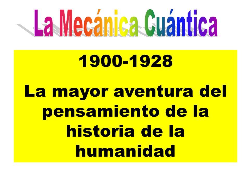 1900-1928 La mayor aventura del pensamiento de la historia de la humanidad