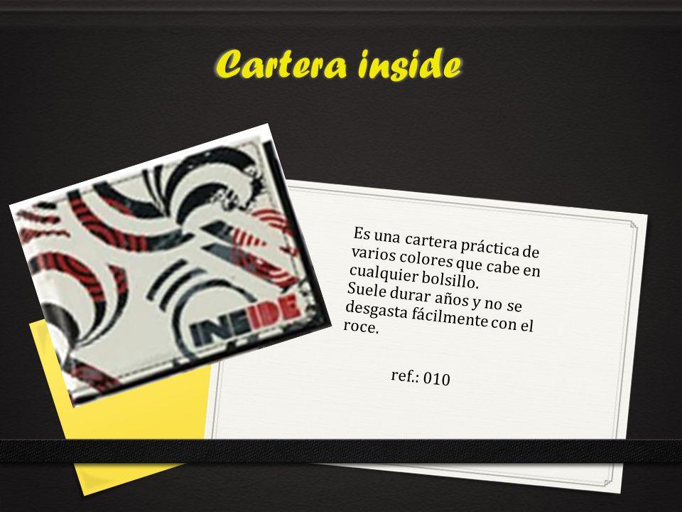 Cartera inside ref.: 010 Es una cartera práctica de varios colores que cabe en cualquier bolsillo.