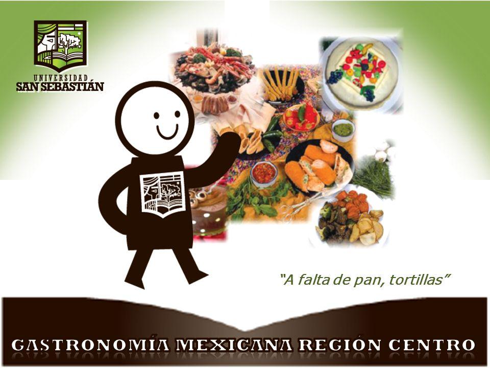 Gastronomía mexicana-Región centro José Luis Cristerna Tópicos selectos.