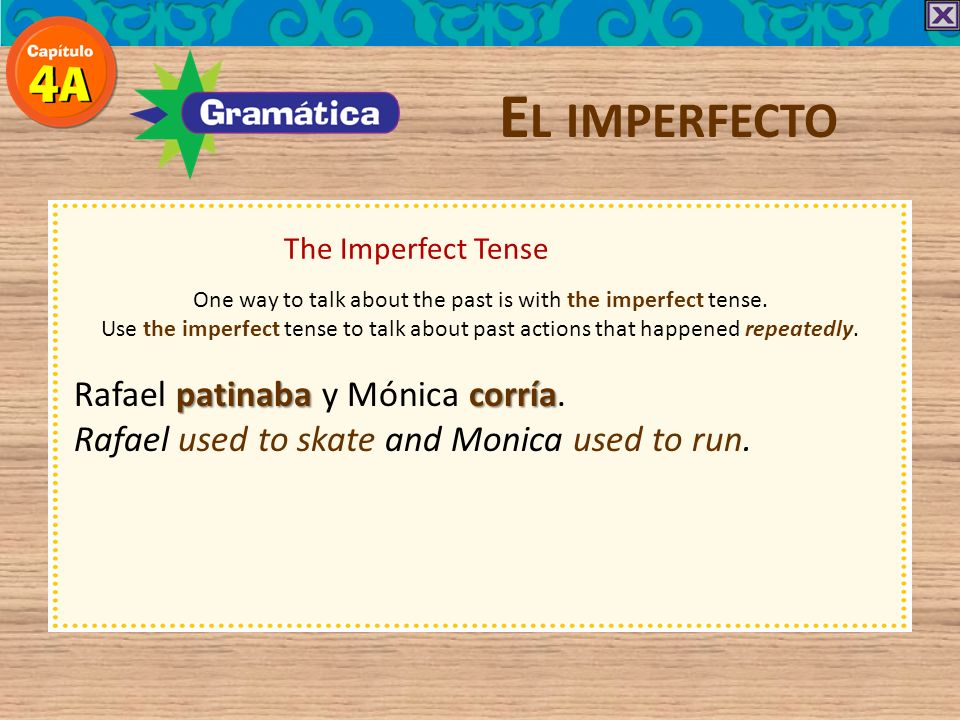 E L IMPERFECTO There are only three irregular verbs in the imperfect tense: ir, ser, and ver.