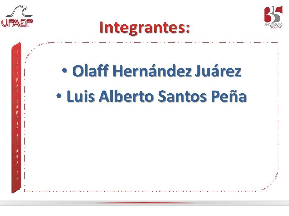 Olaff Hernández Juárez Olaff Hernández Juárez Luis Alberto Santos Peña Luis Alberto Santos Peña