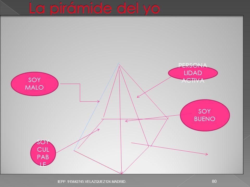 PERSONA LIDAD ACTIVA SOY BUENO SOY MALO SOY CUL PAB LE 80 IEPP. 915642745.VELAZQUEZ124.MADRID.
