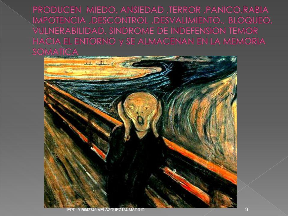 La magnitud de la traumatización depende de: Duración y severidad del evento traumático.