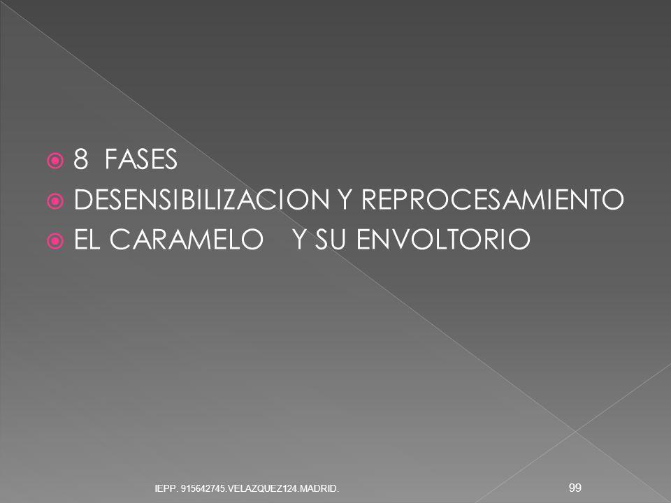 8 FASES DESENSIBILIZACION Y REPROCESAMIENTO EL CARAMELO Y SU ENVOLTORIO 99 IEPP. 915642745.VELAZQUEZ124.MADRID.