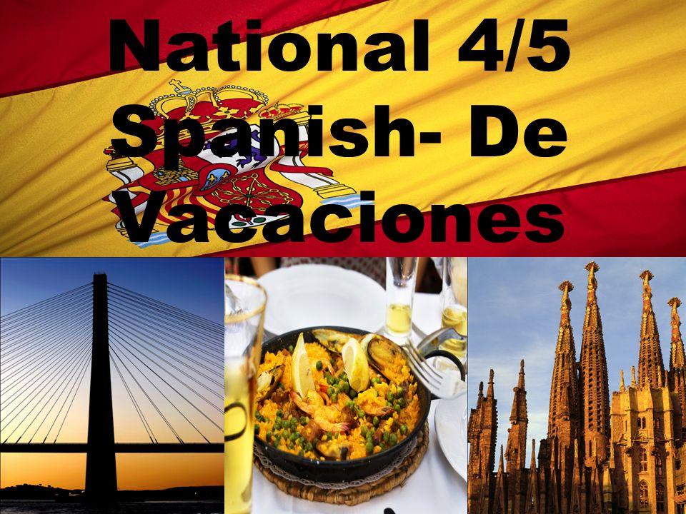 National 4/5 Spanish- De Vacaciones