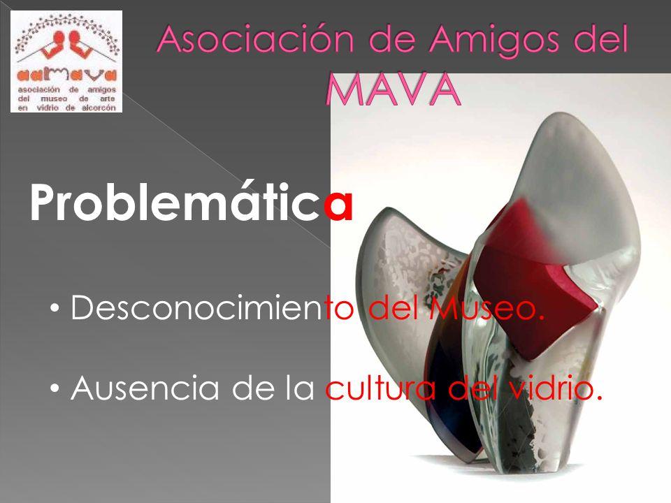 Problemática : Desconocimiento del Museo. Ausencia de la cultura del vidrio.