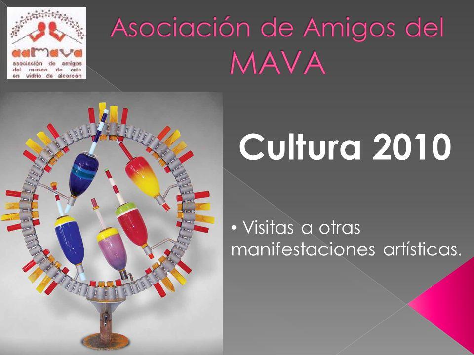 Cultura 2010 Visitas a otras manifestaciones artísticas.