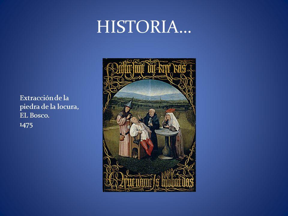 Extracción de la piedra de la locura, EL Bosco. 1475 HISTORIA…