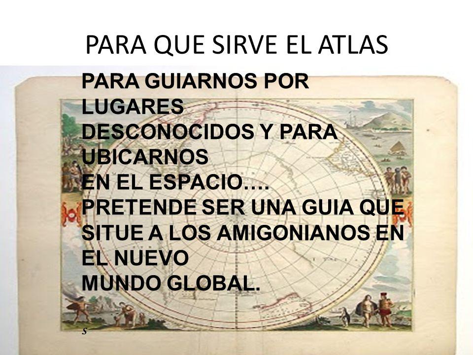 PARA QUE SIRVE EL ATLAS PARA GUIARNOS POR LUGARES DESCONOCIDOS Y PARA UBICARNOS EN EL ESPACIO….
