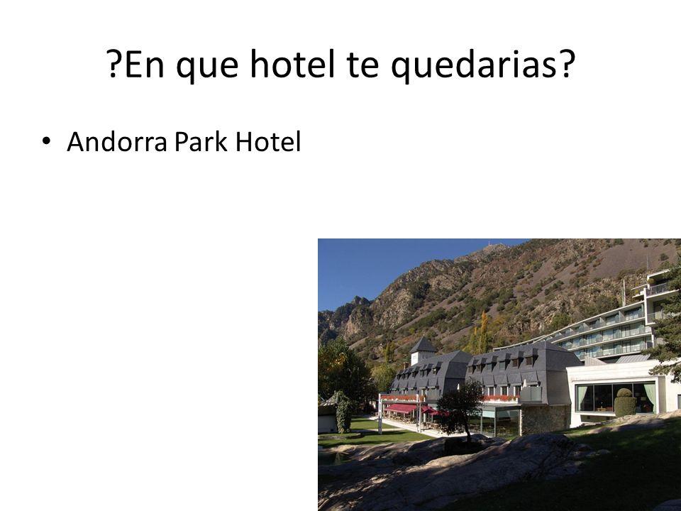 En que hotel te quedarias Andorra Park Hotel