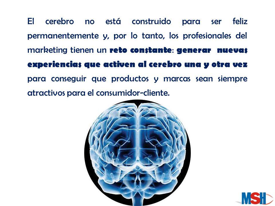 El cerebro no está construido para ser feliz permanentemente y, por lo tanto, los profesionales del marketing tienen un reto constante : generar nueva