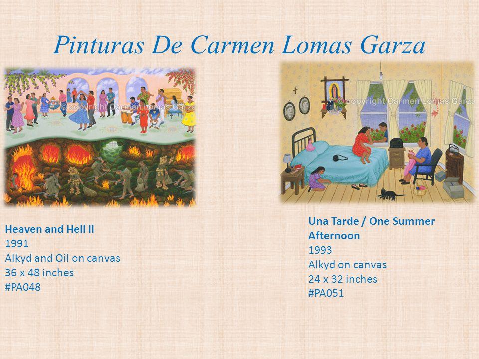 Pinturas De Carmen Lomas Garza Carmen Lomas Garza La Curandera 1989 Carmen Lomas Garza, Usando el Periodico, gouache on paper, 16.5 x 12 inches (frame