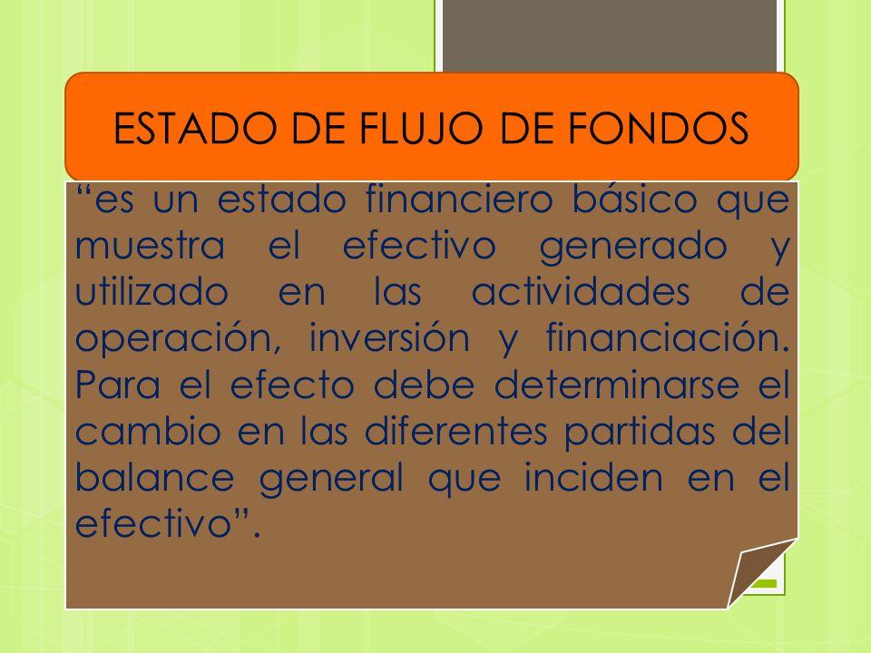 OBJETIVO DEL ESTADO DE FLUJO DE FONDOS El objetivo del flujo de efectivo es básicamente determinar la capacidad de la empresa para generar efectivo, con el cual pueda cumplir con sus obligaciones y con sus proyectos de inversión y expansión.