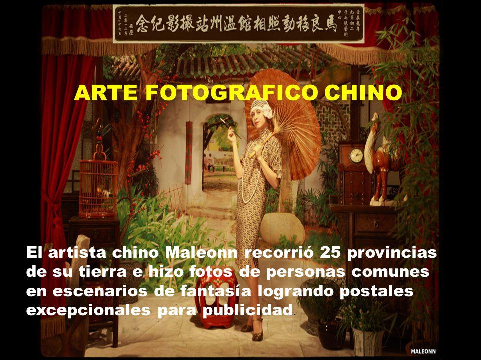 El artista chino Maleonn recorrió 25 provincias de su tierra e hizo fotos de personas comunes en escenarios de fantasía logrando postales excepcionales para publicidad.