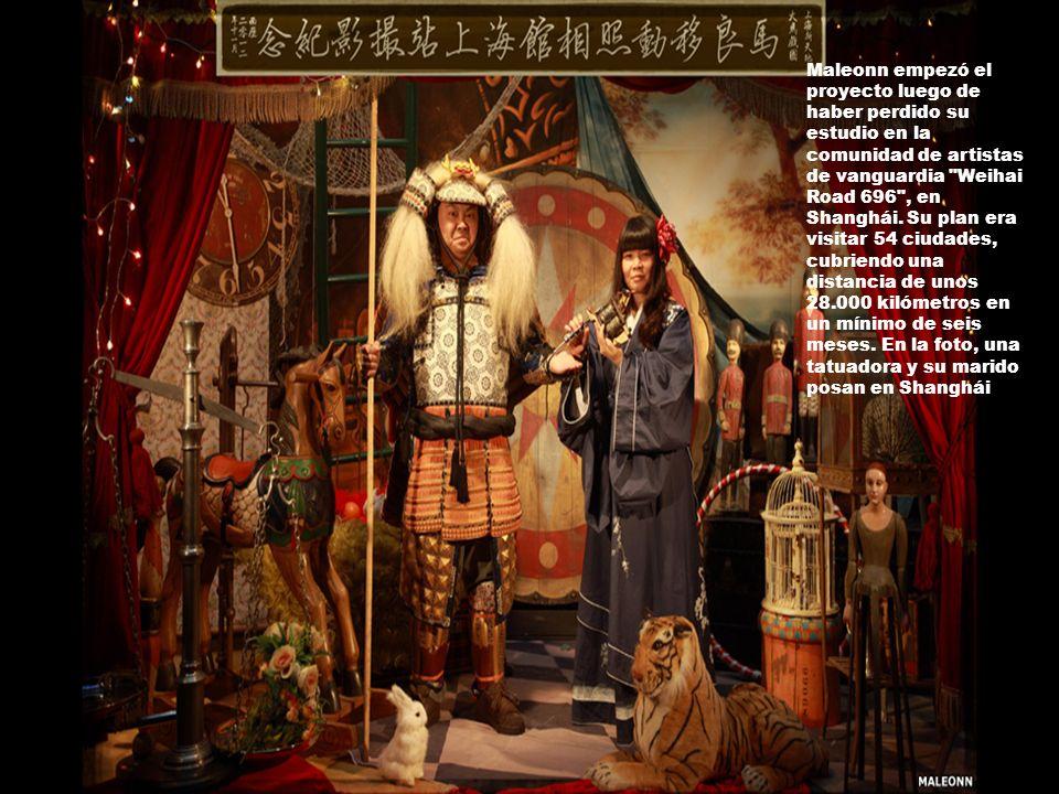 Maleonn empezó el proyecto luego de haber perdido su estudio en la comunidad de artistas de vanguardia Weihai Road 696 , en Shanghái.