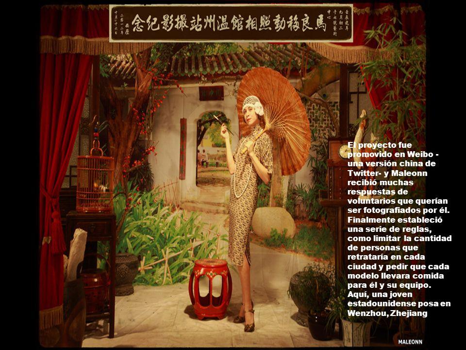 El proyecto fue promovido en Weibo - una versión china de Twitter- y Maleonn recibió muchas respuestas de voluntarios que querían ser fotografiados por él.