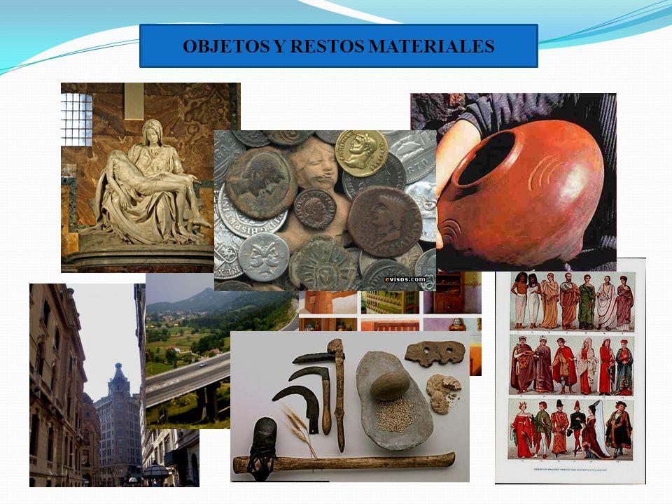 OBJETOS Y RESTOS MATERIALES