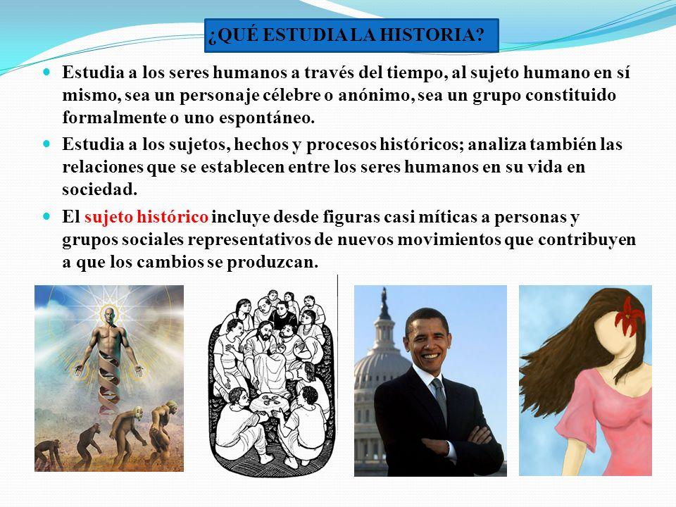 La Historia se parece a una máquina del tiempo, pues permite observar el desarrollo de los procesos históricos que han ocurrido y proyectarlos al futuro.