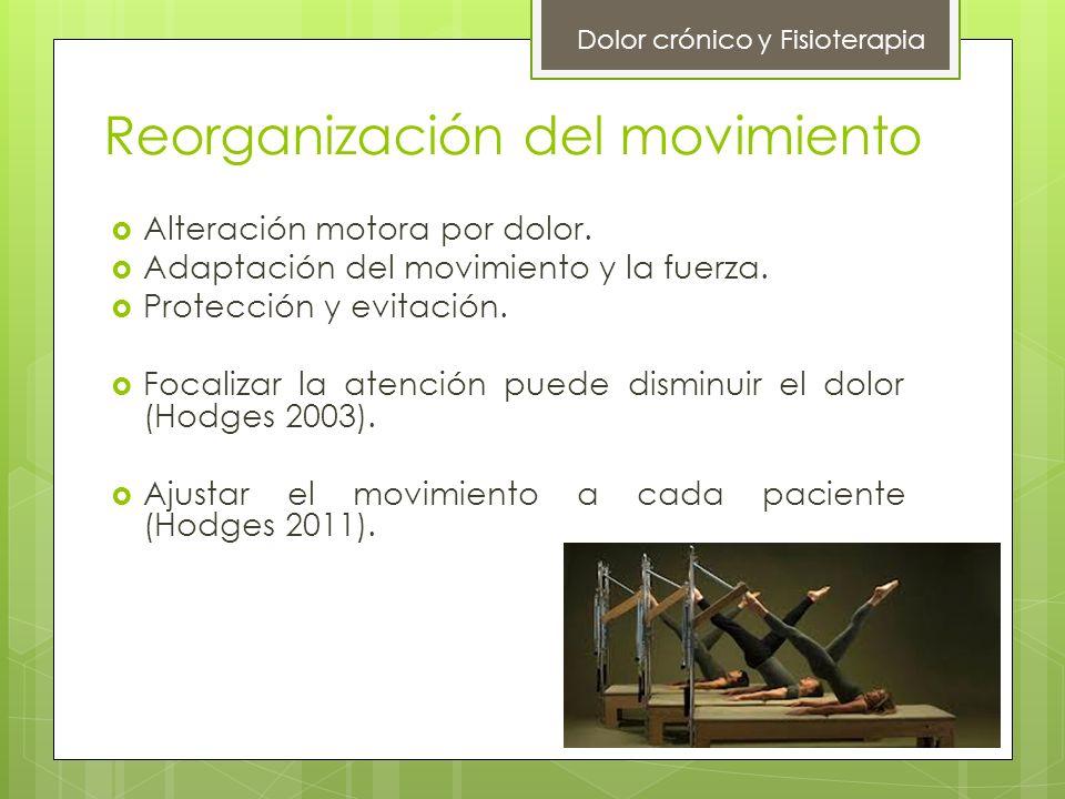 Reorganización del movimiento Alteración motora por dolor. Adaptación del movimiento y la fuerza. Protección y evitación. Focalizar la atención puede