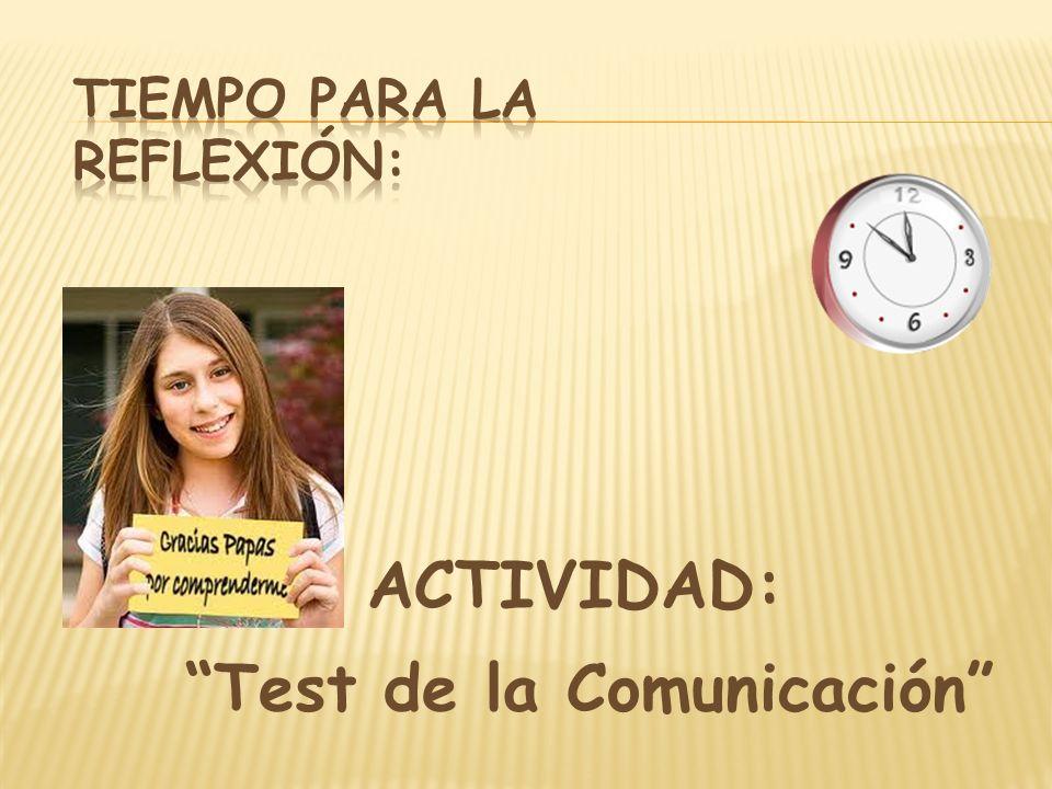 ACTIVIDAD: Test de la Comunicación