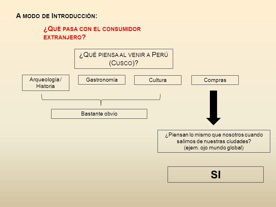 A MODO DE I NTRODUCCIÓN : ¿Q UÉ PASA CON EL CONSUMIDOR EXTRANJERO .